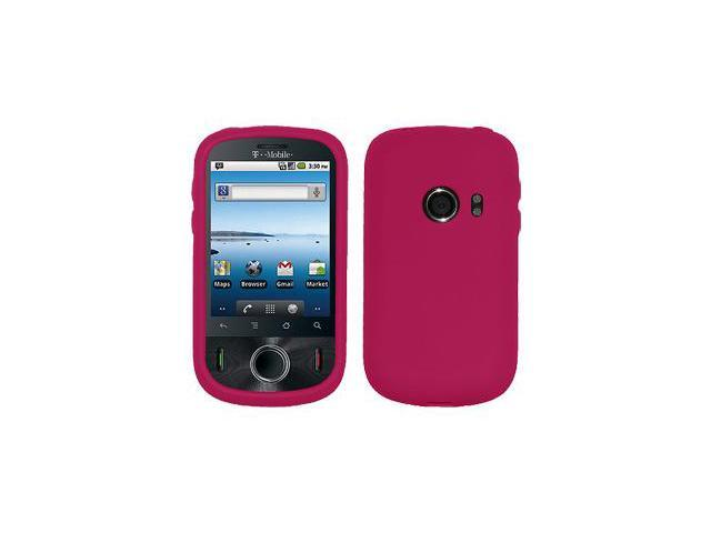 Amzer Silicone Skin Jelly Case - Hot Pink For Huawei Comet U8150