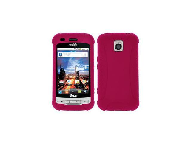 Amzer Silicone Skin Jelly Case - Hot Pink For LG Optimus M MS690,LG Optimus C LW690