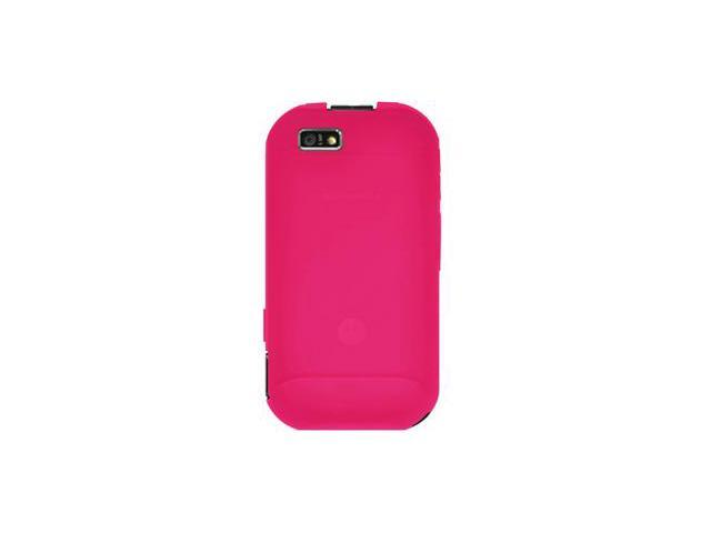 Amzer Silicone Skin Jelly Case - Hot Pink For Motorola TITANIUM