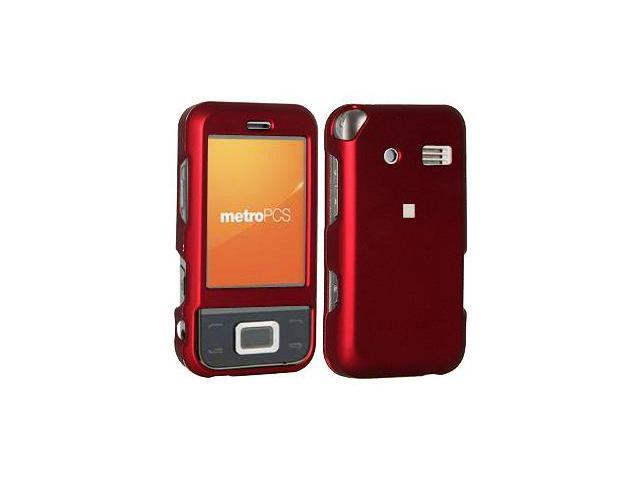 Amzer Rubberized Red Snap On Crystal Hard Case For Huawei M750