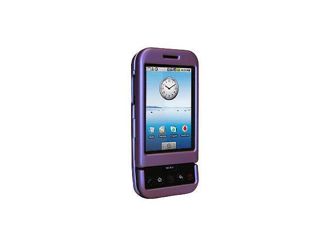 Amzer Rubberized Purple Snap On Crystal Hard Case For HTC Dream
