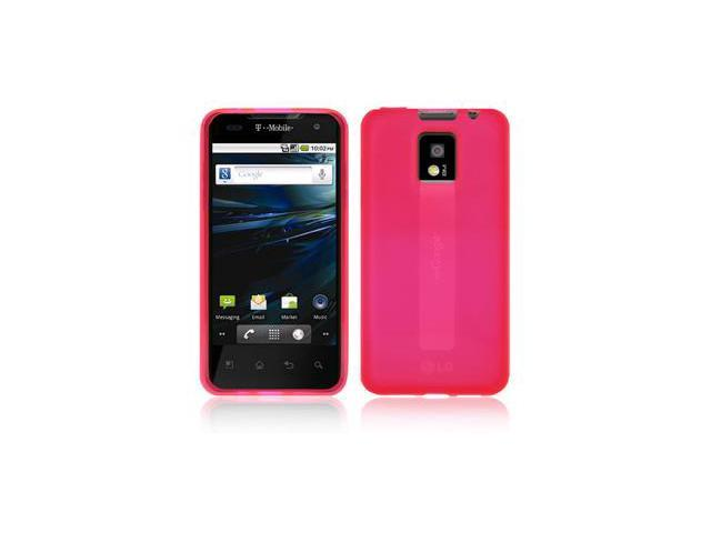 Amzer Soft Gel TPU Gloss Skin Case - Hot Pink For LG G2x