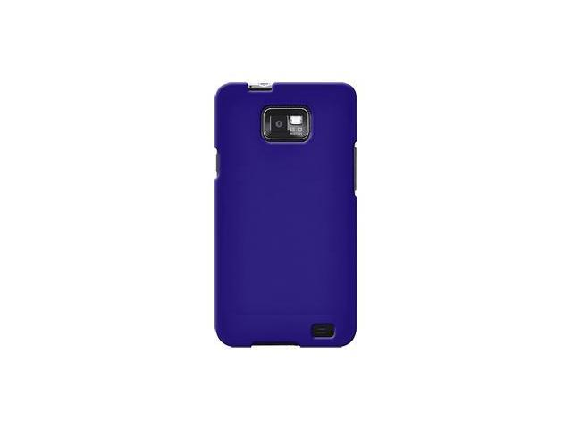 Amzer Rubberized Blue Snap On Crystal Hard Case For Samsung Galaxy S II SGH-I777