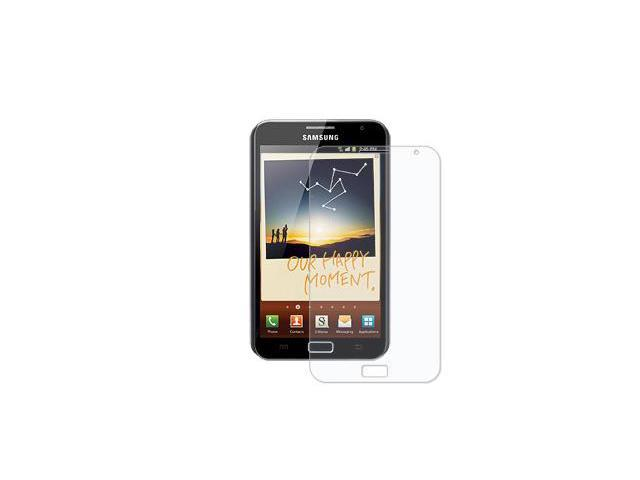 Amzer Simple Click On Case with Screen Protector - Rubberized Black For Samsung Galaxy Note