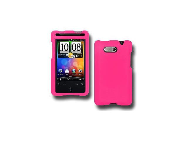 Amzer Rubberized Hot Pink Snap On Crystal Hard Case For HTC Aria