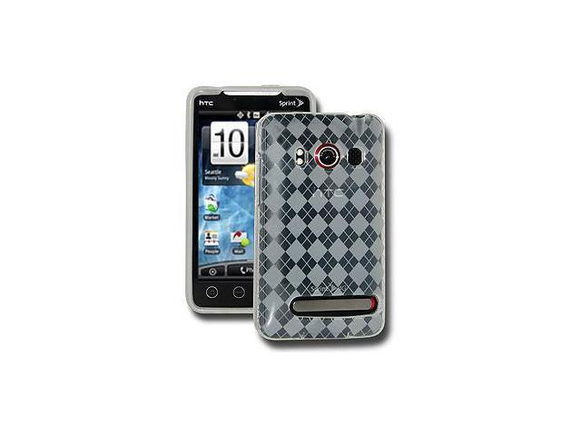 Amzer Luxe Argyle Skin Case - Clear For HTC EVO 4G