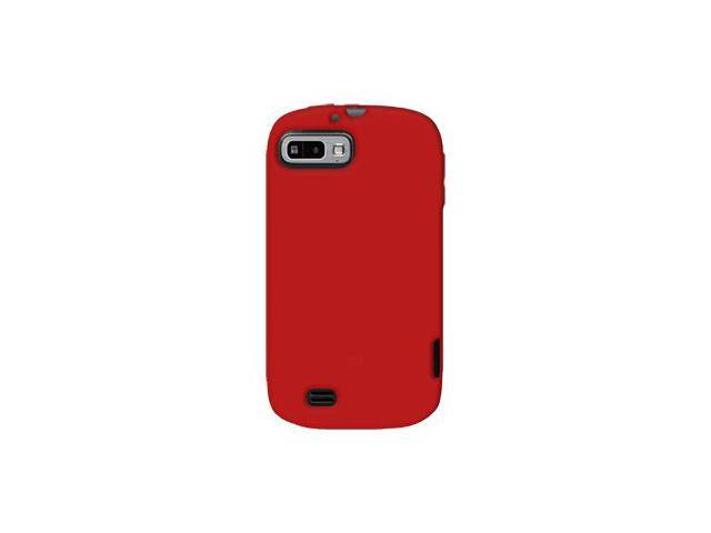 Amzer Silicone Skin Jelly Case - Red For ZTE Fury N850
