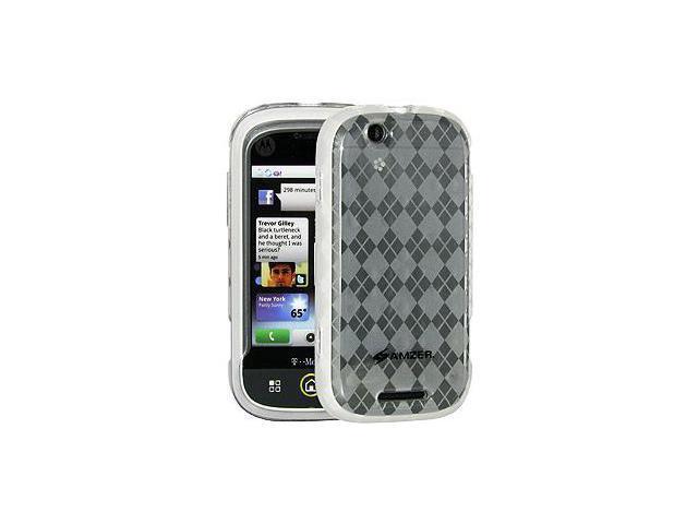 Amzer Luxe Argyle Skin Case - Clear For Motorola CLIQ MB200