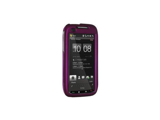 Amzer Rubberized Purple Snap On Crystal Hard Case For Verizon HTC Touch Pro 2