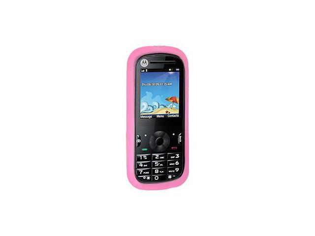 Amzer Silicone Skin Jelly Case - Baby Pink For Motorola VE440