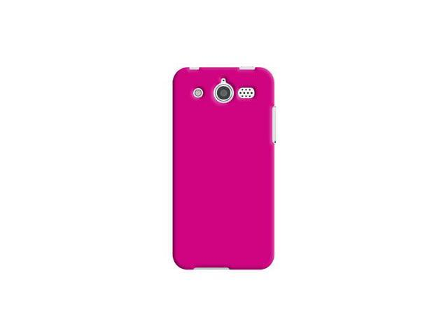 Amzer Rubberized Pink Snap On Crystal Hard Case For Huawei Mercury M886