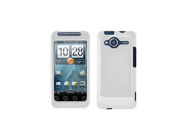 Amzer® Injecto Snap On Hard Case - White For HTC EVO Shift 4G