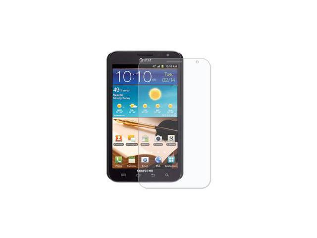 Amzer Simple Click On Case with Screen Protector - Rubberized Black For Samsung Galaxy Note SGH-I717