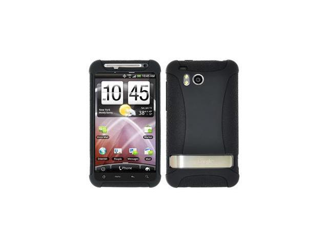 Amzer Silicone Skin Jelly Case - Black For HTC ThunderBolt ADR6400