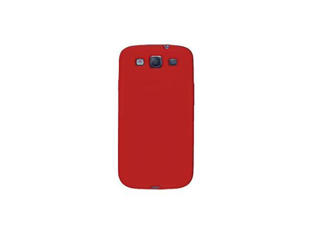 Amzer Silicone Skin Jelly Case - Red For Samsung GALAXY S III GT-I9300