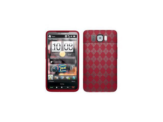 Amzer Luxe Argyle Skin Case - Red For HTC HD2