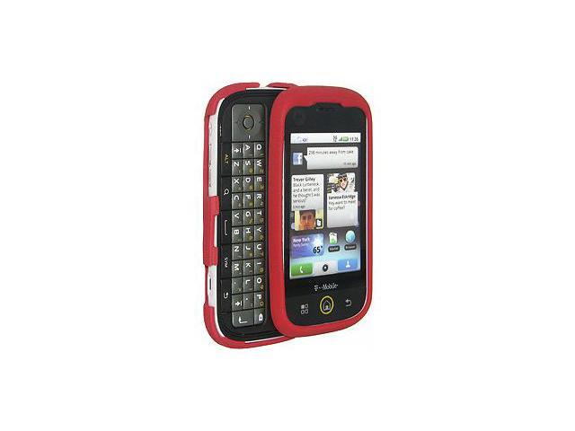Amzer® Hybrid Silicone Skin Jelly Case - Maroon Red For Motorola CLIQ MB200