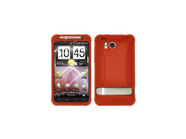 Amzer Silicone Skin Jelly Case - Orange For HTC ThunderBolt ADR6400