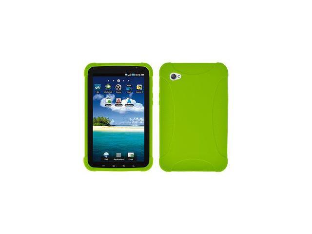 Amzer Silicone Skin Jelly Case - Green For Samsung GALAXY Tab GT-P1000