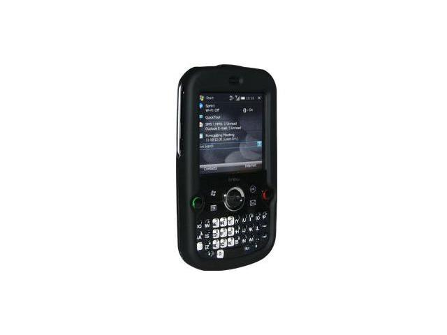 Amzer Rubberized Black Snap On Crystal Hard Case For Treo Pro