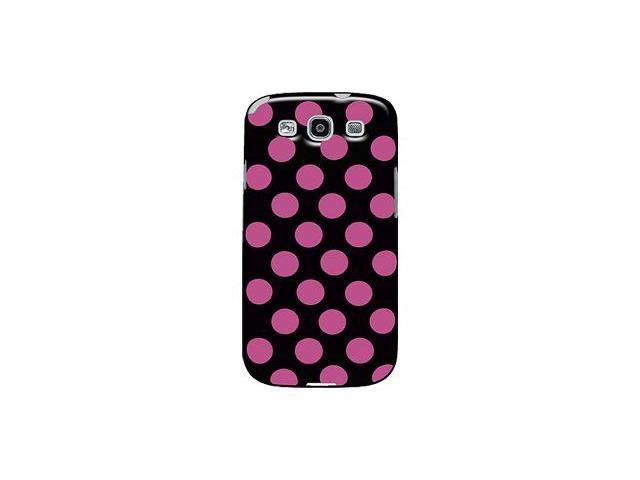 Amzer Polka Dot TPU Case - Black/ Pink For Samsung GALAXY S III GT-I9300