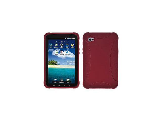Amzer Silicone Skin Jelly Case - Maroon Red For Samsung GALAXY Tab GT-P1000