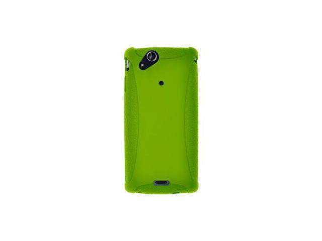 Amzer Silicone Skin Jelly Case - Green For Sony Ericsson Xperia arc