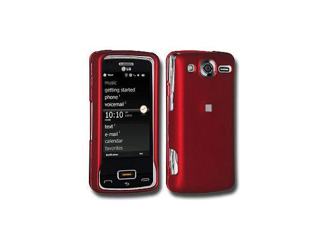 Amzer Rubberized Red Snap On Crystal Hard Case For LG Expo GW820