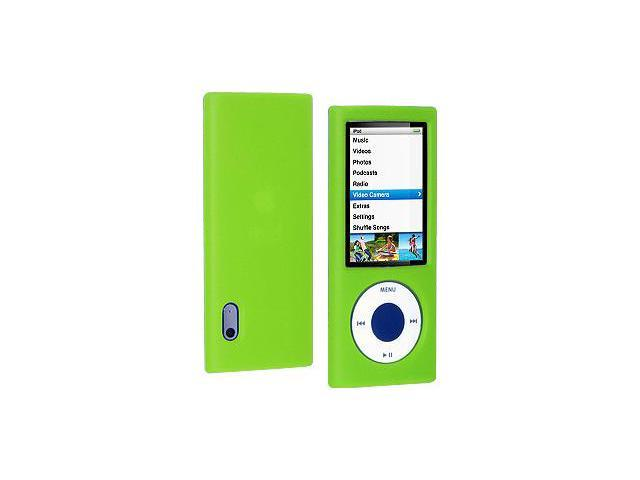 Amzer Silicone Skin Jelly Case - Green For iPod Nano 5th Gen