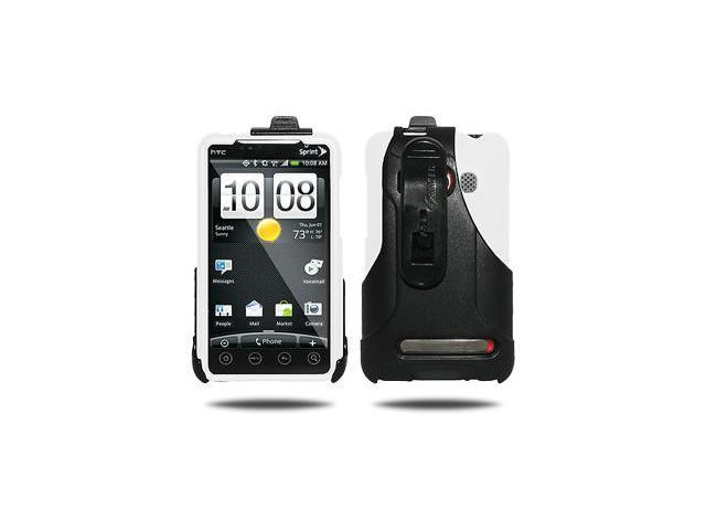 Amzer Luxe Argyle Case + Swivel Holster Combo - Smoke Grey For HTC EVO 4G