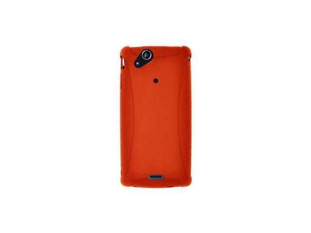 Amzer Silicone Skin Jelly Case - Orange For Sony Ericsson Xperia arc