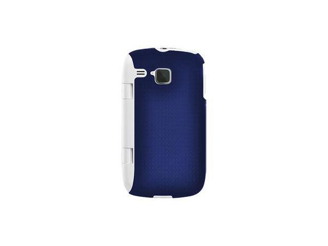 Amzer Injecto Snap On Hard Case - Blue/ White For Samsung DoubleTime