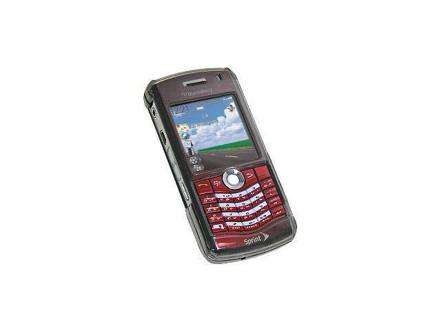 Amzer Snap On Transparent Case - Smoke Black For BlackBerry 8120,BlackBerry 8130