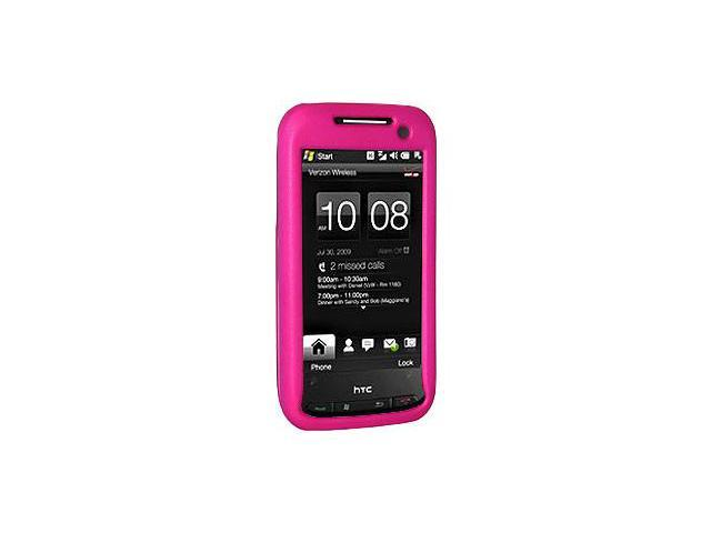 Amzer Rubberized Hot Pink Snap On Crystal Hard Case For Sprint HTC Touch Pro 2