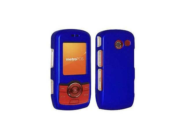 Amzer Rubberized Blue Snap On Crystal Hard Case For LG Lyric MT375