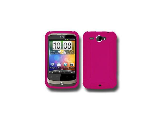 Amzer Silicone Skin Jelly Case - Hot Pink For HTC Wildfire