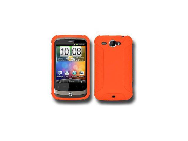 Amzer Silicone Skin Jelly Case - Orange For HTC Wildfire