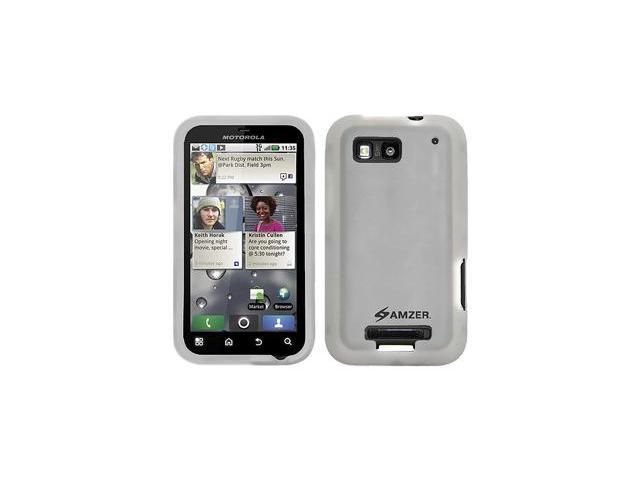 Amzer Silicone Skin Jelly Case - Transparent White For Motorola DEFY MB525