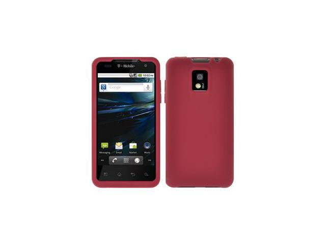 Amzer Silicone Skin Jelly Case - Maroon Red For LG G2x