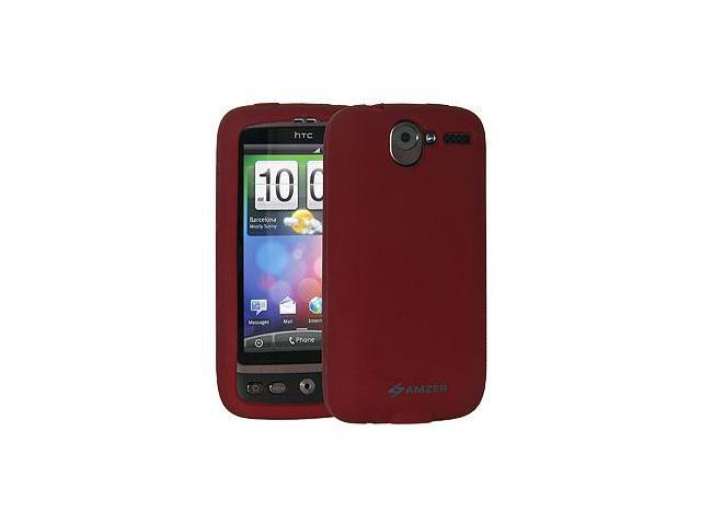 Amzer Silicone Skin Jelly Case - Maroon Red For HTC Desire