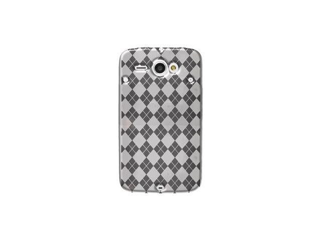 Amzer Luxe Argyle High Gloss TPU Soft Gel Skin Case - Clear For HTC ChaCha,HTC Status