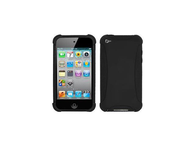 Amzer Silicone Skin Jelly Case - Black For iPod Touch 4th Gen
