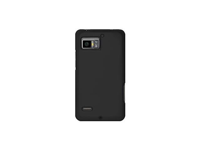 Amzer Silicone Skin Jelly Case - Black For Motorola DROID BIONIC XT875