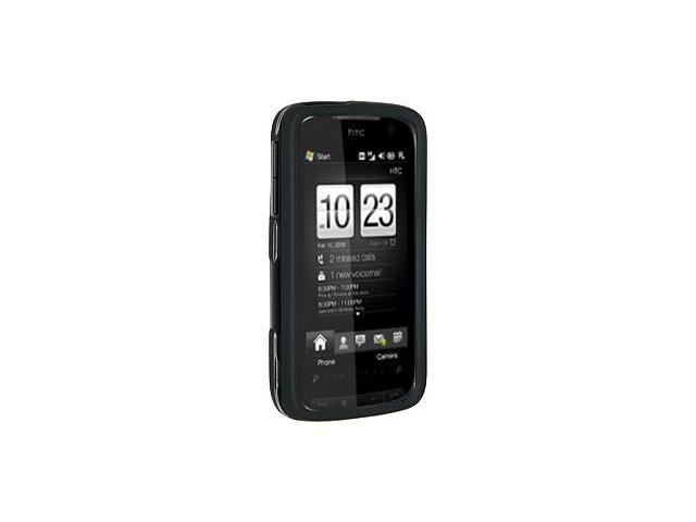Amzer Rubberized Black Snap On Crystal Hard Case For T-Mobile HTC Touch Pro 2