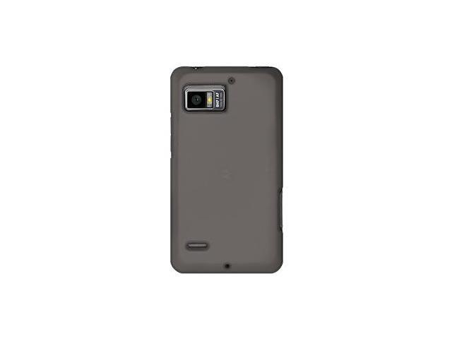 Amzer Silicone Skin Jelly Case - Grey For Motorola DROID BIONIC XT875