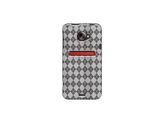 Amzer Luxe Argyle High Gloss TPU Soft Gel Skin Case - Clear For HTC EVO 4G LTE