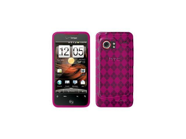 Amzer Luxe Argyle Skin Case - Hot Pink For HTC DROID Incredible PB31200