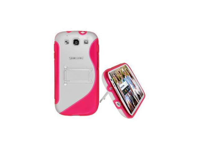 Amzer Protective TPU Case with Stand ® Pink For Samsung GALAXY S III GT-I9300