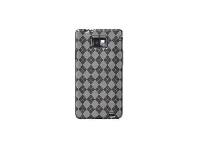 Amzer Luxe Argyle High Gloss TPU Soft Gel Skin Case - Clear For Samsung Galaxy S II SGH-I777