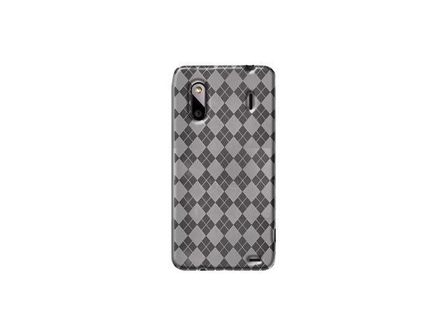 Amzer Luxe Argyle High Gloss TPU Soft Gel Skin Case - Clear For HTC EVO Design 4G,HTC Hero S